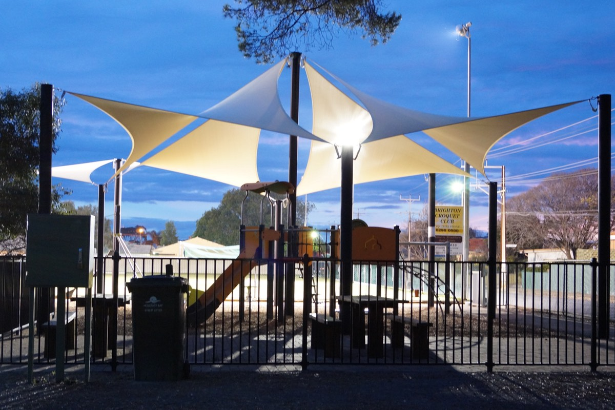 shade sail structure brighton croquet club hove city of holdfast bay sa
