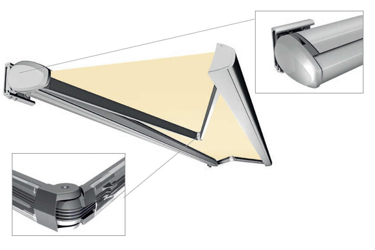 cassette helioscreen motorised folding arm awning Adelaide SA