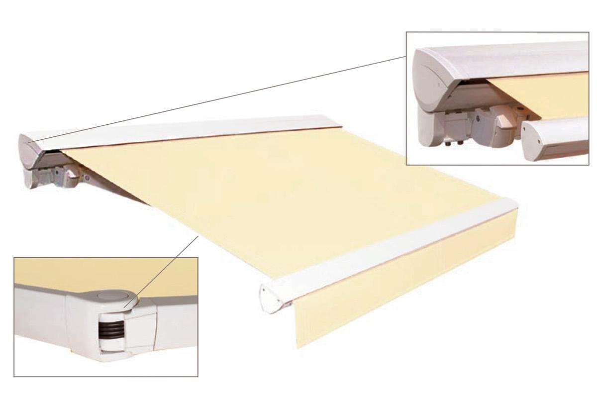 fabric cassette helioscreen folding arm awning motorised Adelaide SA