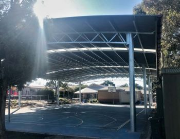 COLA structure for Wynn Vale School basketball court