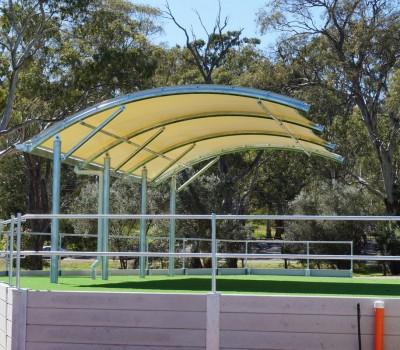 shade structure St ignatius college school Cit of norwood